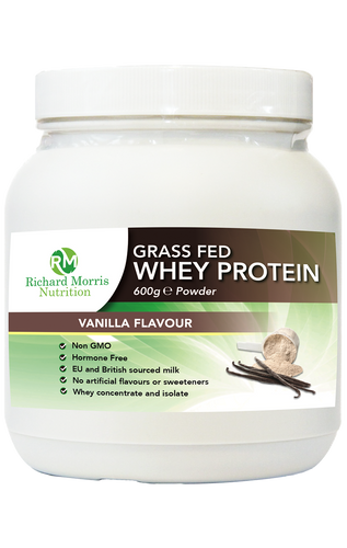 Grass Fed Whey Protein Powder - Vanilla Flavour - RichardMorrisNutrition.com