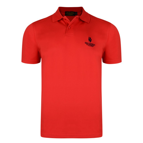 Old Course St Andrews Scotland  Old Course Golf Tech Polo Shirt Red