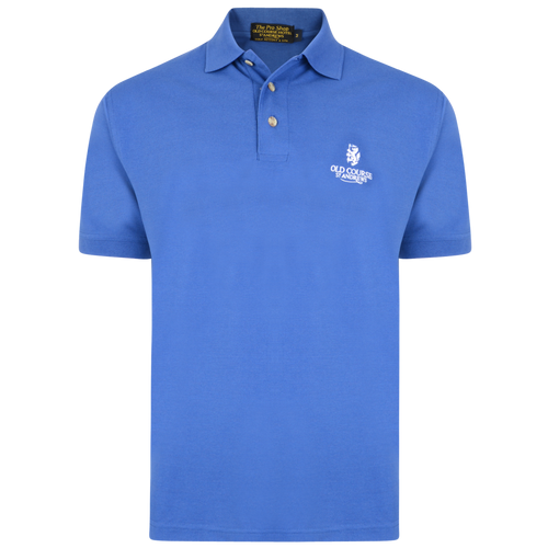 Old Course St Andrews Scotland Old Course Cotton Mix Polo Shirt Blue