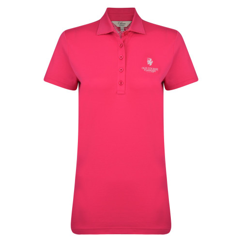 Old Course St Andrews Scotland Golf Clover Pima Cotton Shirt Pink