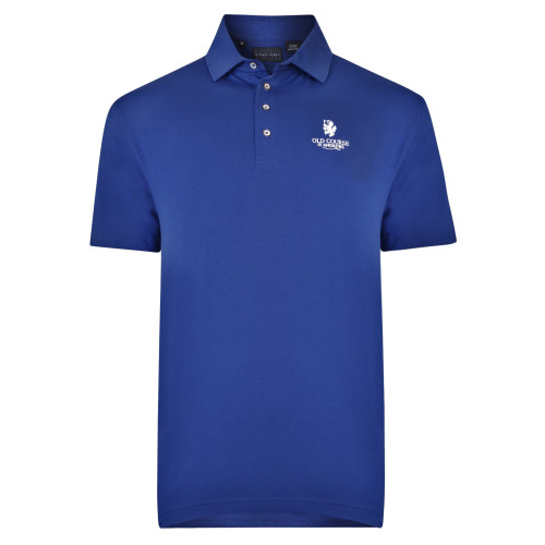 Old Course St Andrews Scotland Bobby Jones Solid Shirt Navy