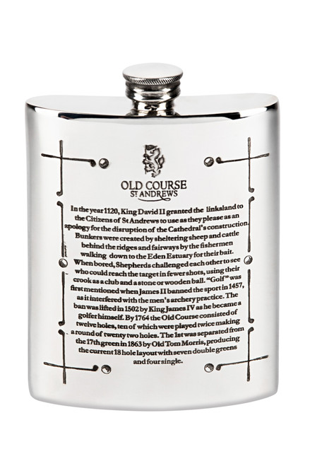 Old Course Pewter Hip Flask