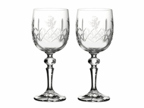 Old Course St Andrews Scotland Burns Crystal Wine Glasses
