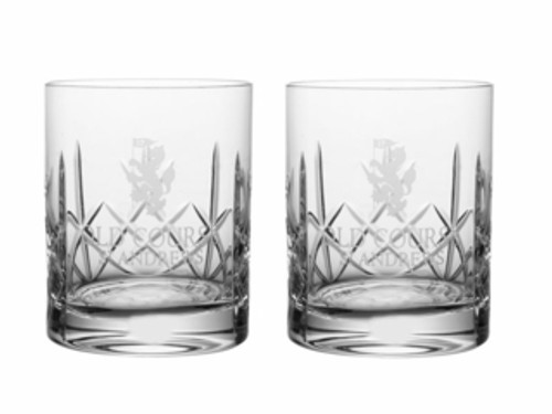 Old Course St Andrews Scotland Burns Crystal Whisky Glasses