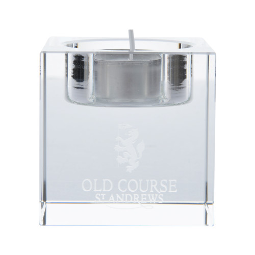 Old Course St Andrews Scotland Burns Crystal Candle Holder
