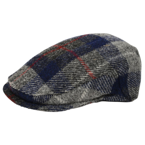 Old Course St Andrews Scotland Harris Tweed Flat Cap Blue and Grey