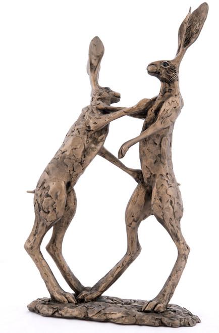 Bronze Boxing Hares - Hannah & Hamish