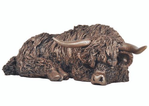 Bronze Cow Resting