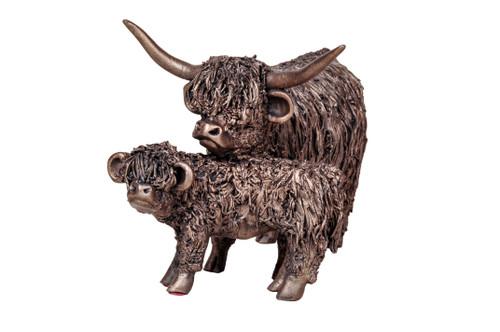 Bronze Cow & Calf