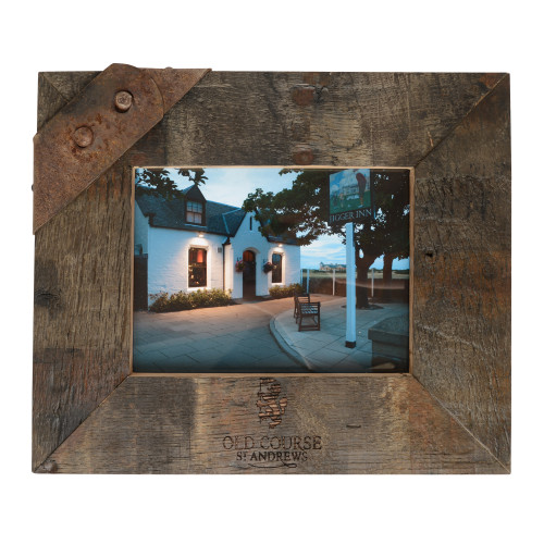 Old Course St Andrews Scotland Whisky Photo Frame- Stave