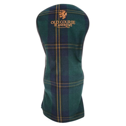 Headcover, Golf Club Cover, Tartan, St Andrews, Old Course, driver Cover