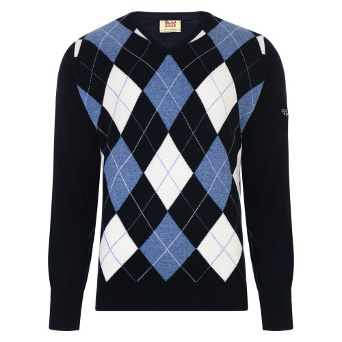 argyle, scottish, cashmere, sweater, old course, made in scotland