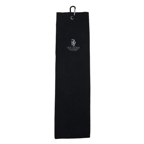 Old Course Tri-Fold Microfibre Towel - Black