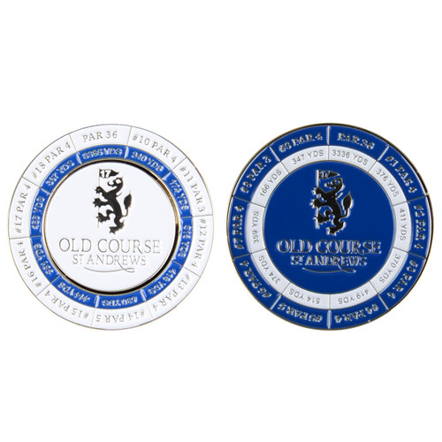 Old Course St Andrews Scotland Scorecard Coin with Marker