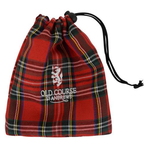 St Andrews Old Course Royal Stewart Red Tartan Tee Bag