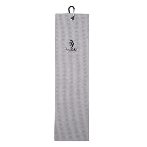 Old Course Tri-Fold Microfibre Towel - Silver