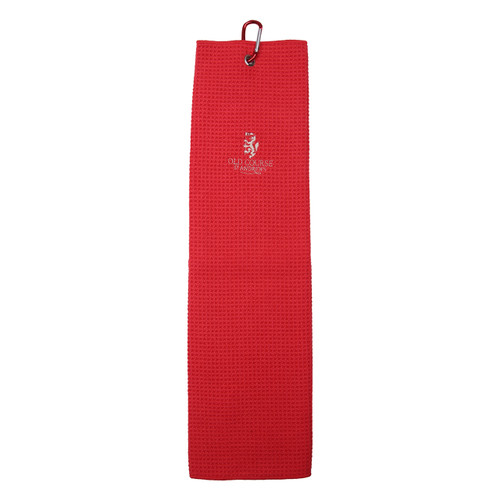 Old Course Tri-Fold Microfibre Towel - Red