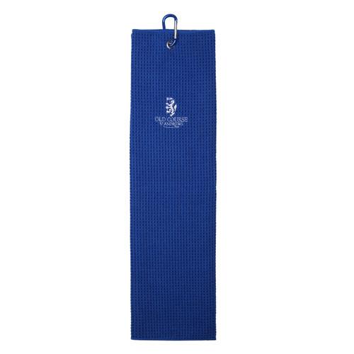 Old Course Tri-Fold Microfibre Towel - Royal
