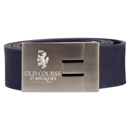 St Andrews Old Course Golf Navy Silicone Belt