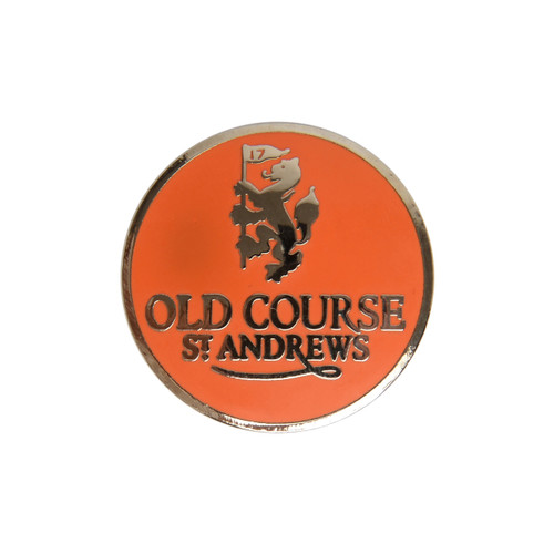 Golf Old Course St Andrews Scotland Old Course Ball Marker Orange