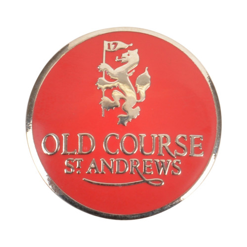 Golf Old Course St Andrews Scotland Old Course Ball Marker Red