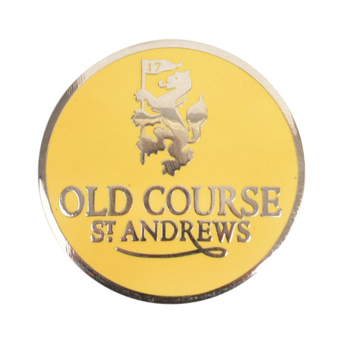 Golf Old Course St Andrews Scotland Old Course Ball Marker Yellow