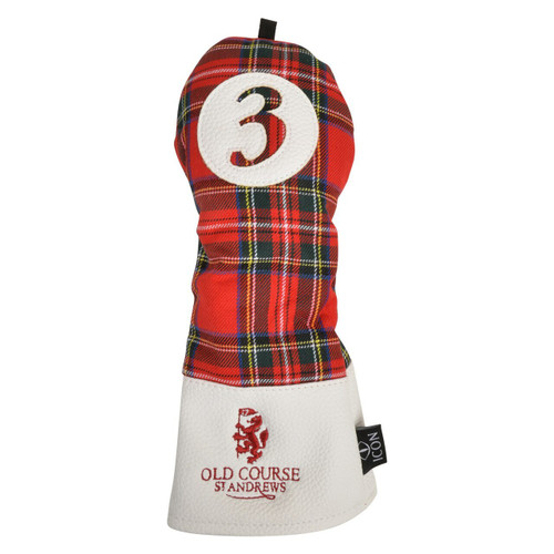 Headcover, Golf Club Cover, Tartan, St Andrews, Old Course