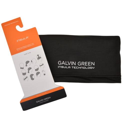 Galvin green delta snood neck gaitor scarf - black