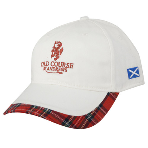 St Andrews Old Course St Andrews Scotland tartan trim baseball cap hat, St. Andrews, Old Course, St. Andrews hat, St. Andrews cap, Golf, Golf Course, Old Course Pro Shop, The Old Course Hotel, Golf hat, golf cap, golf baseball cap, hat, cap,  cotton, Royal Stewart