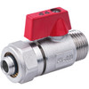 PEX-AL-PEX 16mm x 1/2 Male BSP Ball Valve Brass Compression Pipe Fittings from Ball valves;PlumbingPipe fittingsPEX fittings