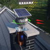 150mm Chimney Cowl Tulipan Version Stainless Steel Hybrid with Solar Panel