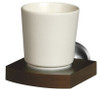 Solid Wood and Zamak Wall Mounted Ceramics Single Toothmug Toothbrush Cup Grip from Toothbrush holders