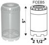 """5"""" Reusable Empty Clear Cartridge Water Filter Housing Various Media Refillable"""