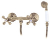 Elegant Wall Mounted Shower Antique Brass Tap with Ancient Retro Heads from Shower mixers