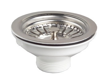 Kitchen basin drain dopant sink waste strainer basket leach plug steel 90mm 6/4 from Drain waste traps