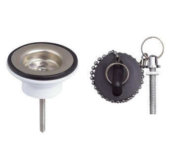 Wash basin sick stainless steel basket strainer waste 1 1/4 with plug, chain from Drain waste traps