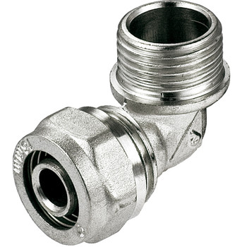PEX-AL-PEX 16mm x 1/2 Male BSP Compression Fittings Elbow Pipe Connector from PEX fittings