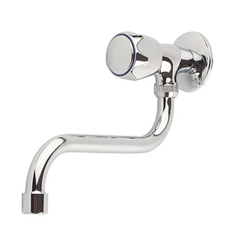 S-type Spout Kitchen Wall Mounted Cold Water Tap Single Lever Chrome-plated from Kitchen taps