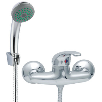 Chrome Bathroom Mixer Shower Kit Set Wall Mounted Showering Faucet with Handle from Shower mixers
