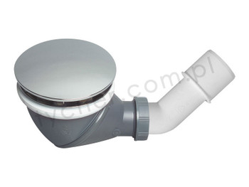 Wirquin james multi directional shower waste drain 90mm 360 degree with cap cover from Drain waste traps