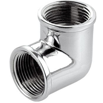 Chromed Brass Elbow 1/2 x 3/8 BSP Female Reducing Bush Adapter Thread Reducer from Threaded elbows