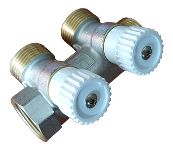 Durable High Quality Brass 2 Sections 3/4 Water Manifold Distributor Luxor from Heating manifolds
