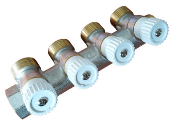 Durable high quality brass 4 sections 3/4 water manifold distributor luxor from Heating manifolds