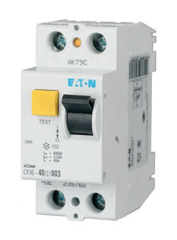 2-Poles 2-Modules Residual Current Circuit Breaker 25A 230VDC Eaton CFI6-25/2/03 from Circuit breakers