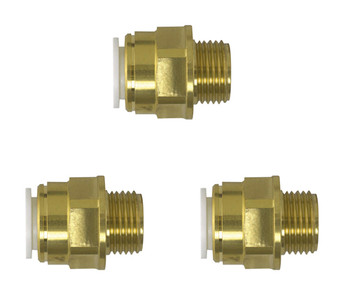 John Guest JG Speedfit 3x Male Coupler 15mm x 1/2 from John Guest fittings