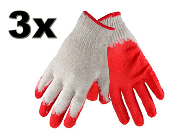 3 Pairs Cotton Protective Garden Gardening Gloves Perfect Grip Standard Size from Gardening tools
