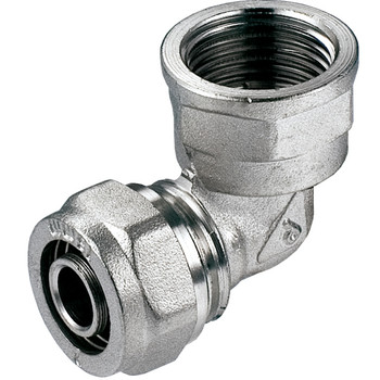 PEX-AL-PEX 16mm x 1/2 Female BSP Compression Fittings Elbow Pipe Connector from PEX fittings