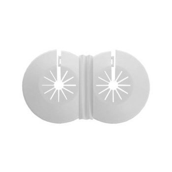 Twin Double Universal 8-22mm White Radiator Plastic Water Pipe Cover Collar Rose from Pipe covers  collars