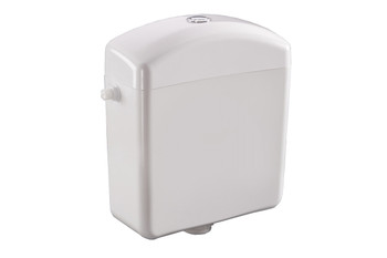 White Plastic Low-level WC Toilet Bathroom Flush Cistern Tank Chrome Plated Push Button from Toilet spares
