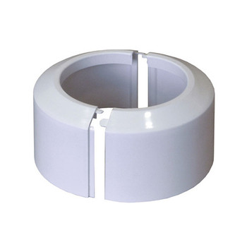 High Split Two-Piece White WC Toilet Rosette Soil Pipe Connection Collar Cover 110mm from Waste pan connectors